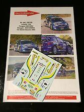 DECALS 1/24 PEUGEOT 206 WRC BENGUE RALLYE SAINTE BEAUME 2002 WRC RALLY TAMIYA
