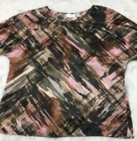 Chico's Blouse Abstract Soft Size Chico's 1 / Reg 8 M