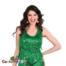 Adult Woman's Medium Dress Christmas Tree Green Dazzle Fancy Dress Costume