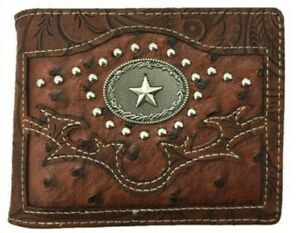 Lone Star Mens Wallet Texas Western Bifold W070-13 Brown