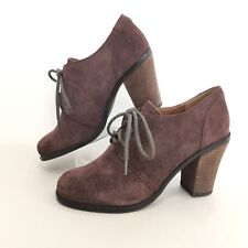 Lucky Brand Womens Sz 8M Mystique Brown Leather Lace Up Bootie Shoe 8M EUR 38