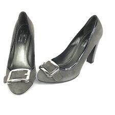 Original Car Shoe by Prada Suede Stacked Heel Patent Sz 40 9.5 10