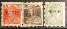 Serie 3 Francobolli Fiume Carlo e Zita. Nuovi. 1918 #lt52