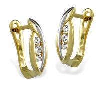 ECHT GOLD *** Zirkonia  Ohrringe Creolen 14 mm