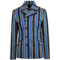 MADCAP ENGLAND DOUBLE BREASTED RETRO STRIPE BOATING BLAZER BLUE Backbeat MC448