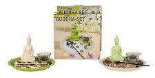 moderne Porte-bougies Décoration de table bouddha Rond Céramique Blanche ou vert