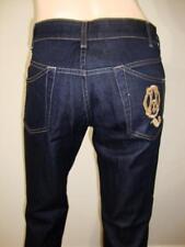 Alexander McQueen Women's Dark Blue Denim Straight leg Jeans Size 44