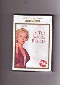 """MARILYN MONROE - """"LA TUA BOCCA BRUCIA"""" FILM DVD NUOVO, SIGILLATO!"""