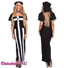 Ladies Deluxe Erotic Nun Party Halloween Fancy Dress Costume Dress Up Outfit