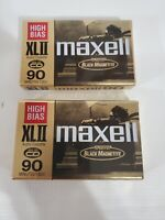 MAXELL XLII 90 Minute  audio cassette high bias IEC type II SEALED Lot of 2