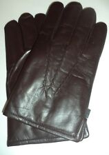Mens Genuine Leather Thinsulate Gloves,Brown, XXXL