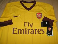 Boys Nike Dri Fit Arsenal Yellow Away Jersey for 2010-11 Season Jersey Size XL