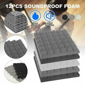 24× Acoustic Wall Panel Tile Studio Sound Insulation Foam Pads  5cm Thicken
