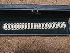 Luxurman Diamond Mens Bracelet 5 Carats...... Sterling Silver Comes With COA