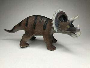 """Large Dinosaur Triceratops Soft Rubber Toy Jurassic -  15"""" long"""