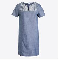 J Crew Washed Chambray Dress Womens Sz XS - 100% cotton