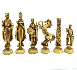 Antique Chess Dresden Figures 32 Chess Pieces for 16 cm King Queen