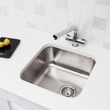 Modern Stainless Steel Single 1.0 Bowl Kitchen Sink Square Undermount FREE Waste