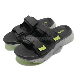Skechers Max Cushioning Sandal-North Beach Grey Men Strap Slip On 229017-CCLM