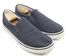 Faded Glory Navy Blue Mens Canvas Slip On Sneakers Shoes Size 13M