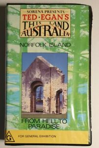 Ted Egan's This Land Australia VHS Norfolk Island Clamshell Rare Pre-Owned