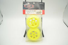 De Racing DER-SCT-LFY Yellow Triidad Front Wheel (2) For Losi XXX-SCT or XXX-SCB