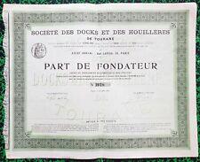 Indochine & Paris IX ème - Tourane - Secteur Minier & Portuaire du 30/06/1899