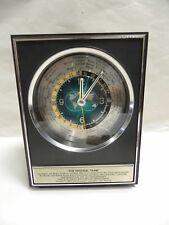 Vtg Retro Santa Fe Railroad Presentation Howard Miller World Time Clock (A15)