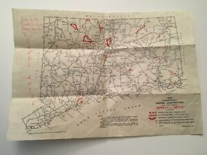 W5) 1940 State of Connecticut State Highway Department Construction Aid Map