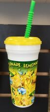 Plastic Lemonade Cups, Lids, Straws 32 oz. Case of 300