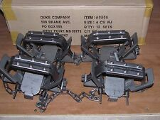 4 Duke # 4 Rubber Jaw 4 Coil Spring Traps  Beaver Coyote Wolf Trap 0505 NEW SALE