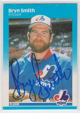 Autographed 1987 Fleer Bryn Smith - Expos