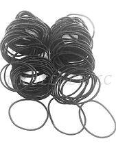 100 negro fino de pelo elásticos Motas Banda de Cabello Cola de Caballo Snag libres no Metal Kids