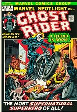 Marvel Spotlight #5 Facsimile Reprint Cover Only w/Original Ads 1st Ghost Rider