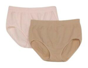 Breezies Panties SZ XL Seamless Cotton Brief Beige A346548