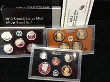 2012-S United States Mint Silver Proof Set W/ COA & Box KEY DATE!