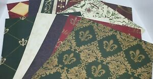 PAISLEY Gold MIrri One Side - Printed One Side 10 x A4 Card Pack 250gsm