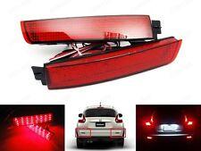 2x LED Bumper Reflector Red Lens Tail Brake Light For Nissan Juke Murano Quest