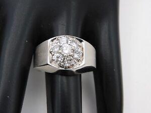 Men's 14k WG Cluster .75 tcw Round Diamond Pinky Ring F/SI Comfort Fit Estate
