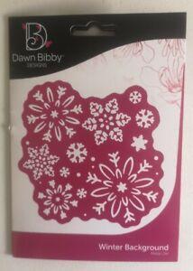 DAWN BIBBY DESIGNS - WINTER BACKGROUND- METAL DIE
