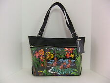 Femme Fatale Dutchess Bag Hula Print/Black Pinup Rockabilly Retro Hotrod