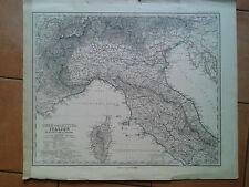 Italia settentrionale e centrale - 1880 Carta Geografica