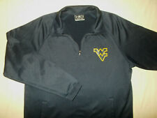 NCAA WEST VIRGINIA 1/4 ZIP LONG SLEEVE NAVY BLUE PULLOVER MENS LARGE EXCELLENT