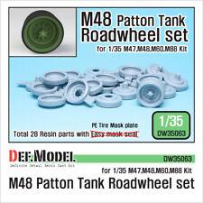 DEF. Modello, carro armato M48 PATTON roadwheel Set, DW35063, 1:35