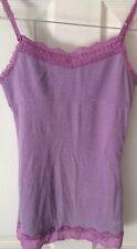 Justice Girls Tank W/ Lace Trim Lavender Purple Size 12 EUC