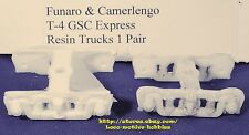 Funaro F&C T-4 T4  GSC EXPRESS TRUCKS  Resin Freight for PRR X42 Boxcar  1-PIECE