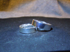 (Why Wear Sterling) Pure Silver .999 Bullion Wedding Band Set By Apm Jewelry #D7