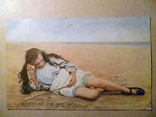 Vintage Postcard- SECRETS of The SEA with George V one penny Postal Stamp