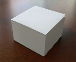 Lot of 2 - Note Paper Cubes - Glued on 1 side  3 1/2 x 3 1/2