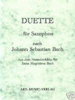 SAXOPHON DUETTE NACH J.S. BACH ( NOTEN )